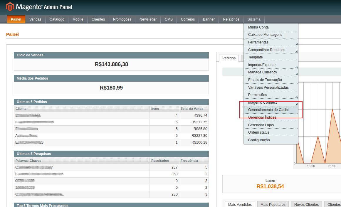 selecionar-cache-e14238300307951 Como limpar o cache do Magento