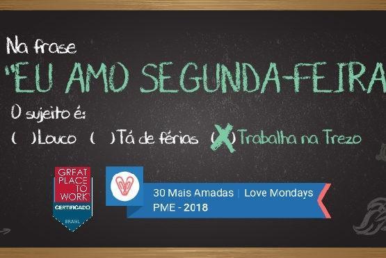 Estamos no top 30 da Love Mondays: somos uma das empresas mais amadas do Brasil pelos colaboradores