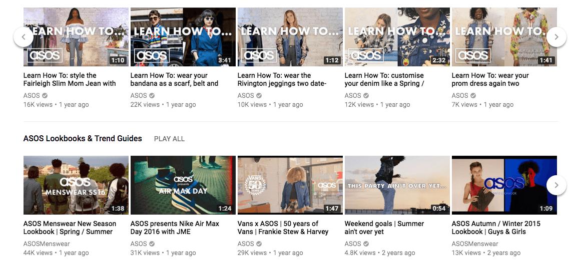 Asos-Youtube-Channel Prepare sua loja para a Geração Z
